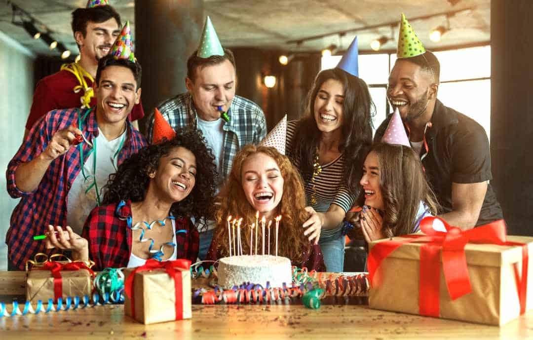 Artclip Freelance Photography Friends Presenting Birthday Cake To Girl