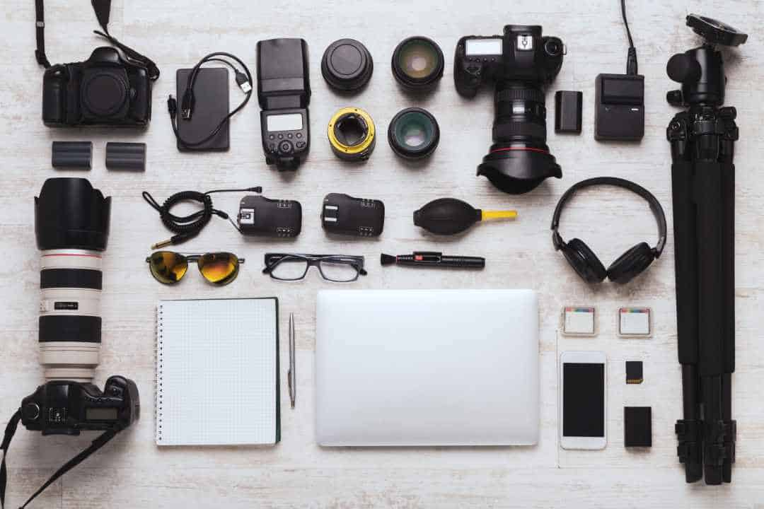 Diverse Personal Equipment For Business Photography
