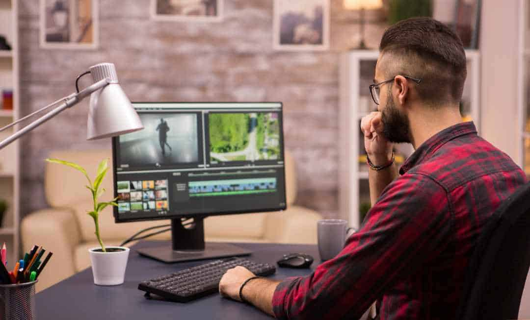Video Advertisement Thoughtful Videographer While Working In A Movie